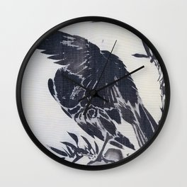 Crow On A Rock - Digital Remastered Edition Wall Clock