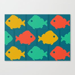 colourful fishes Canvas Print