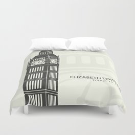 Elizabeth tower clock big Ben in London Duvet Cover