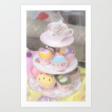 Cupcake Tower Art Print