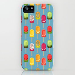Fruit popsicles - blue version iPhone Case