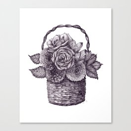 Flower Basket Canvas Print