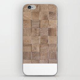 Cubic Wood iPhone Skin