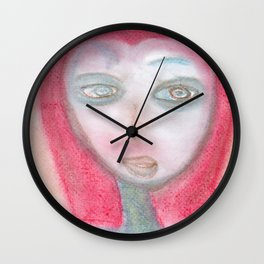 Spiritual Chalks Drawing of a Curious Traveler Wall Clock