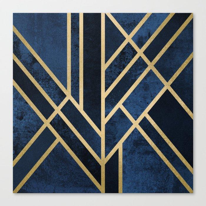 Art Deco Midnight Leinwanddruck