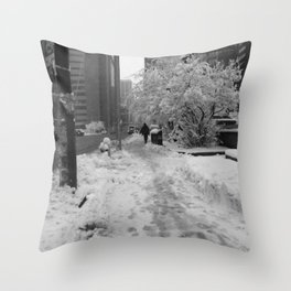 Snow in May Throw Pillow