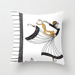 Sophia Butterfly Dancer Throw Pillow