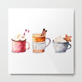 Cute warm drinks Metal Print