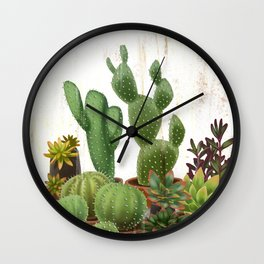 Milagritos Cacti and Succulents Nursery Wall Clock