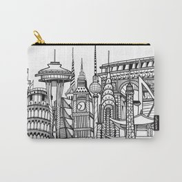 the world / black and white Carry-All Pouch