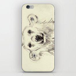 Polar Bear Smiling Black and White iPhone Skin