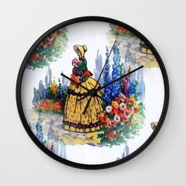 Crinoline Lady Wall Clock