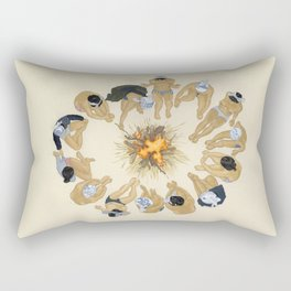 Finding Warmth Together Rectangular Pillow