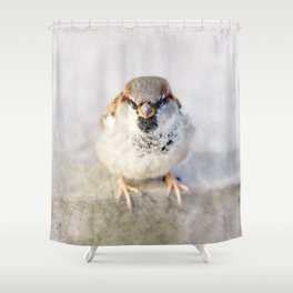 Don't Mess With Sparrows Shower Curtain