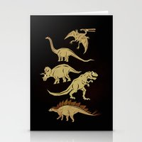 dinosaurs Stationery Cards featuring Dinosaurs by chobopop