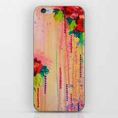 STRAWBERRY CONFETTI PAINTING Abstract Acrylic Floral Beautiful Feminine Flower Bouquet Girlie Pink iPhone & iPod Skin