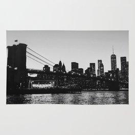 Nighttime NYC Skyline - Brooklyn Bridge Rug