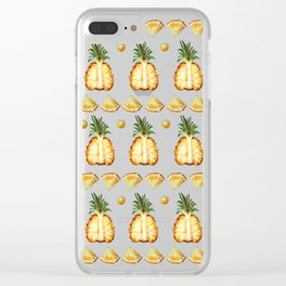 Pineapple dance Clear iPhone Case