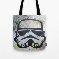 trooper Tote Bags featuring Trooper by Cyndi Sabido