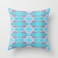orchid Throw Pillows featuring Orchid by Nahal