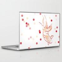goldfish Laptop & iPad Skins featuring goldfish by 1 monde à part