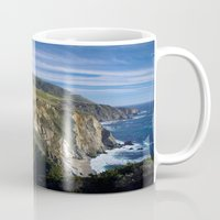 big sur Mugs featuring Big Sur by Brie Anne Demkiw