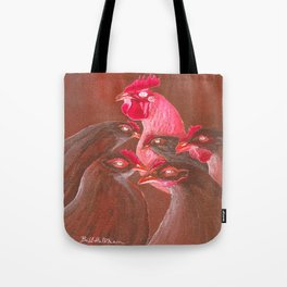 Henpecked In Red Tote Bag