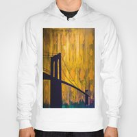 brooklyn bridge Hoodies featuring Brooklyn Bridge by KINGCHANCE