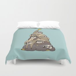 Christmas Tree  Sloths Duvet Cover