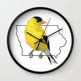 Iowa – American Goldfinch Wall Clock