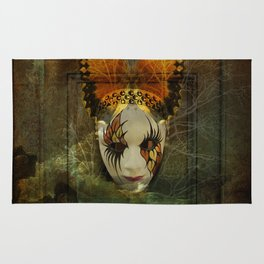 Surrealistic Venetian Mask Rug