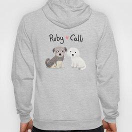 """Custom Dog Art """"Ruby and Calli"""" Hoody"""