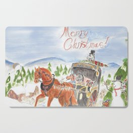 Christmas in Horse Valley Cutting Board