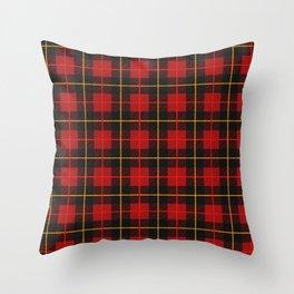 Brodie Red Tartan Plaid Pattern (july 2021) Throw Pillow