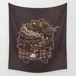 Rollo the Viking Hamster Wall Tapestry