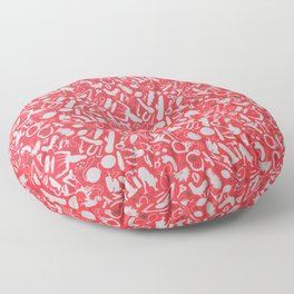 NSFW Red Kinky S&M Pattern Floor Pillow