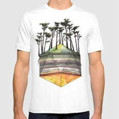 Biome 2X-LARGE Mens Fitted Tee White