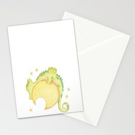 dragon & moon Stationery Cards