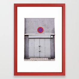 No Entry Framed Art Print