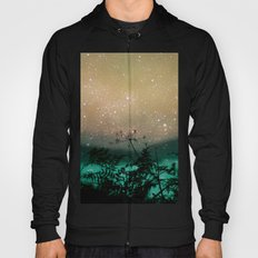 Night Sky Flowers Hoody