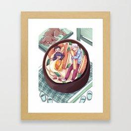 katsudon bed / yuri on ice! Framed Art Print