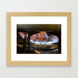 Flame of Emotions Framed Art Print