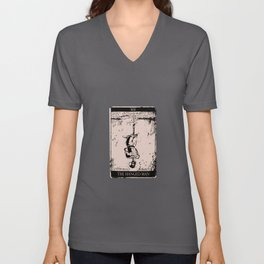Tarot Card Occult The Hanged Man Unisex V-Neck
