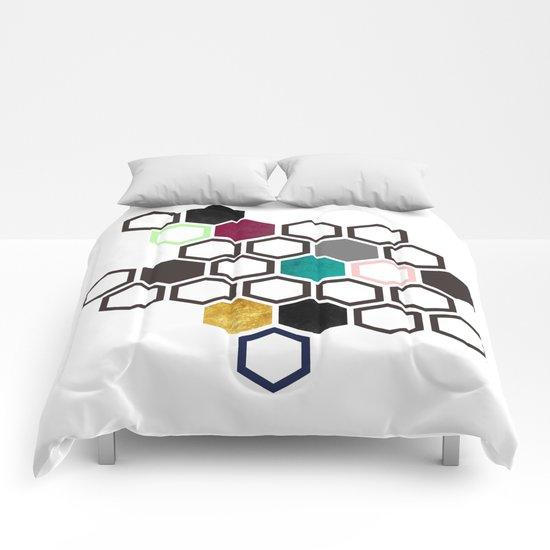 Hexagons Comforters