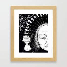 Obsessed with time Framed Art Print