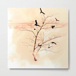 WHITEOUT/Peach Metal Print