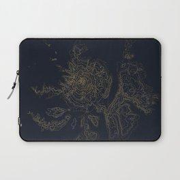 Mount Hood, Oregon Contour Map Laptop Sleeve