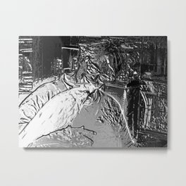 Morning Joey Digital Photo Metal Print