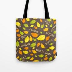 Fall Leaves Pattern Tote Bag