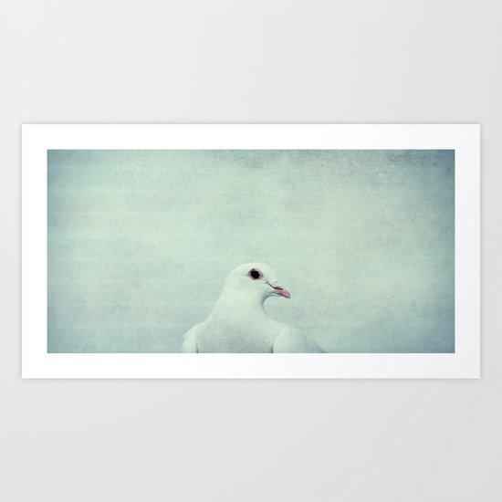 white wing Art Print